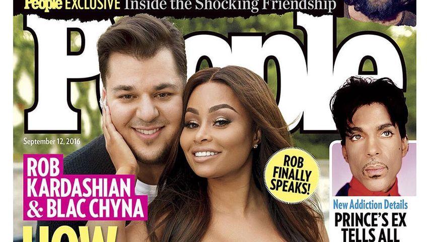 """Robert Kardashian und Blac Chyna auf dem """"People""""-Magazine"""