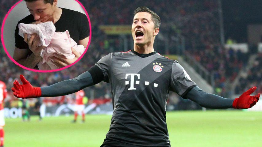 Baby für Bayern-Star: Robert Lewandowski ist im Papa-Glück