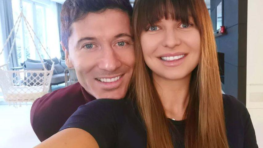 Robert Lewandowski mit seiner Frau Anna