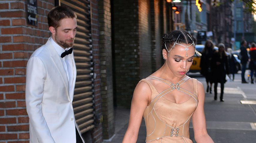 Robert Pattinson und FKA Twigs auf dem Weg zur MET Gala 2016 in New York