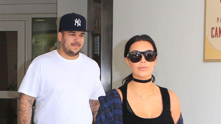 Rob und Kim Kardashian im April 2016