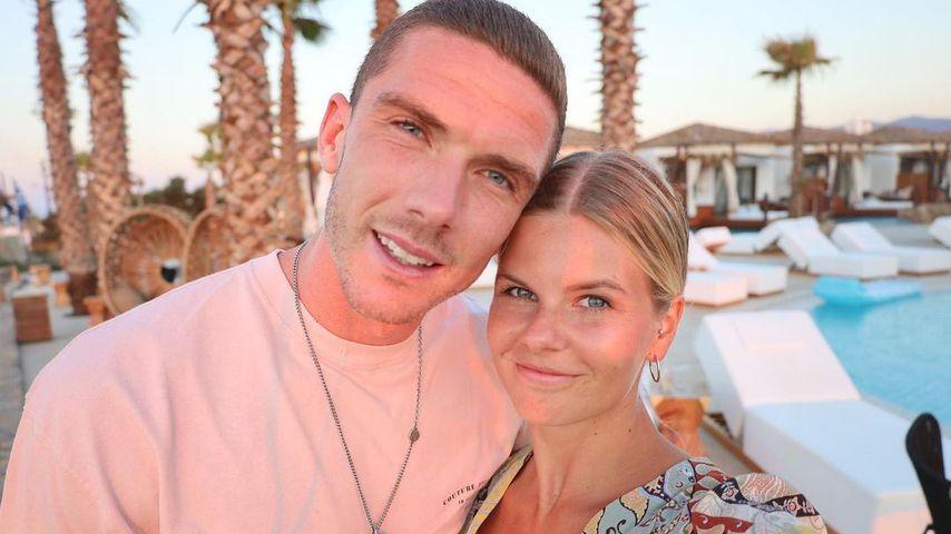 Robin Gosens mit seiner Freundin Rabea