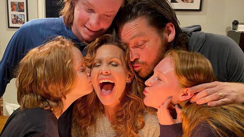 Robyn Lively mit ihrer Familie