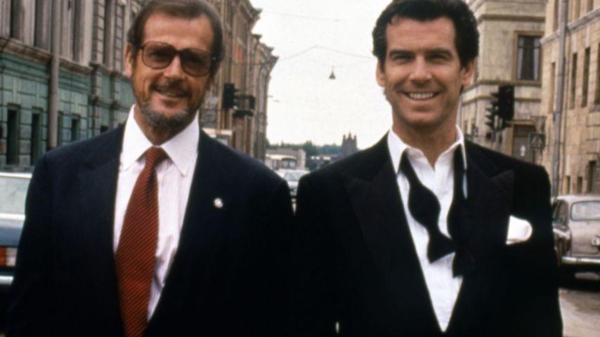 Roger Moore und Pierce Brosnan