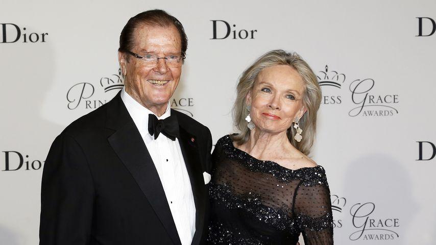 Roger Moore und seine Frau Cristina Tholstrup bei der Princess Grace Awards Gala 2015