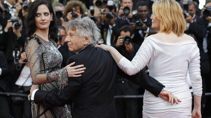 Eva Green, Roman Polanski und Emmanuelle Seigner bei dem 70. Cannes Film Festival 2017