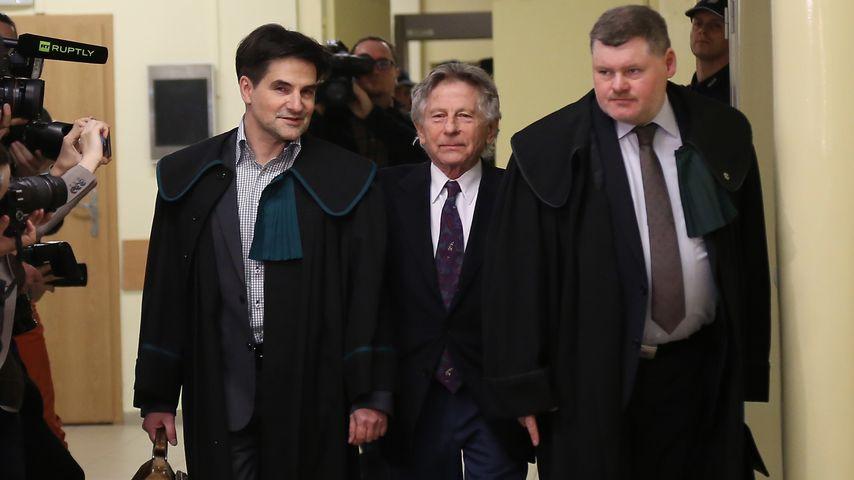 Regisseur Roman Polanski bei der Ankunft vor Gericht 2015