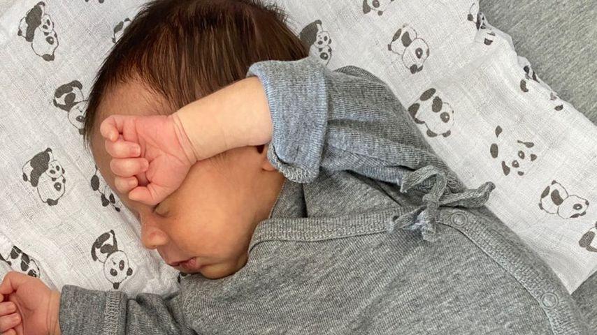 Rome Götze drei Wochen nach seiner Geburt