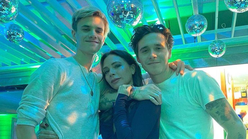 Romeo, Victoria und Brooklyn Beckham