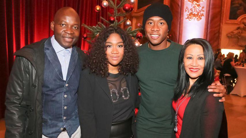 Rose May und David Alaba mit ihren Eltern