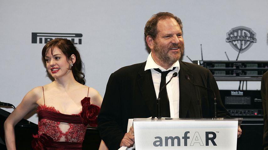 Rose McGowan, Harvey Weinstein und Fotograf Patrick De Marchelier