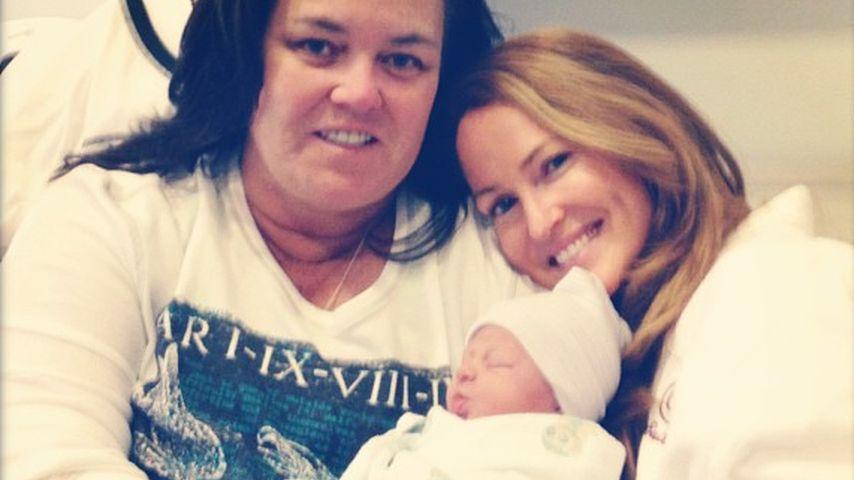 Rosie O'Donnell mit Michelle Rounds und der gemeinsamen Adoptivtochter Dakota