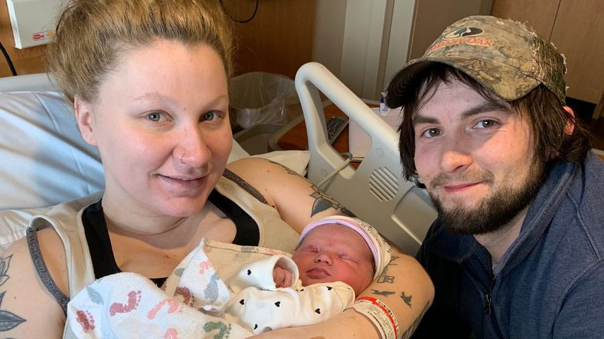 Rosie O'Donnells Tochter Chelsea mit ihrem Freund Jacob und Baby Skylar Rose