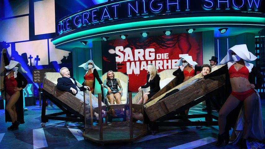 "Ross Antony, Sophia Thomalla, Evelyn Burdecki und Luke Mockridge in ""Luke! Die Greatnightshow"""