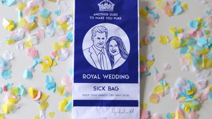 Schräg: Designerin entwirft Kotztüten für royale Hochzeit!