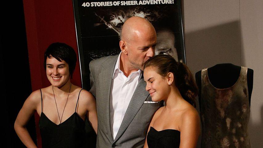 Rumer, Bruce und Tallulah Willis im Juni 2007