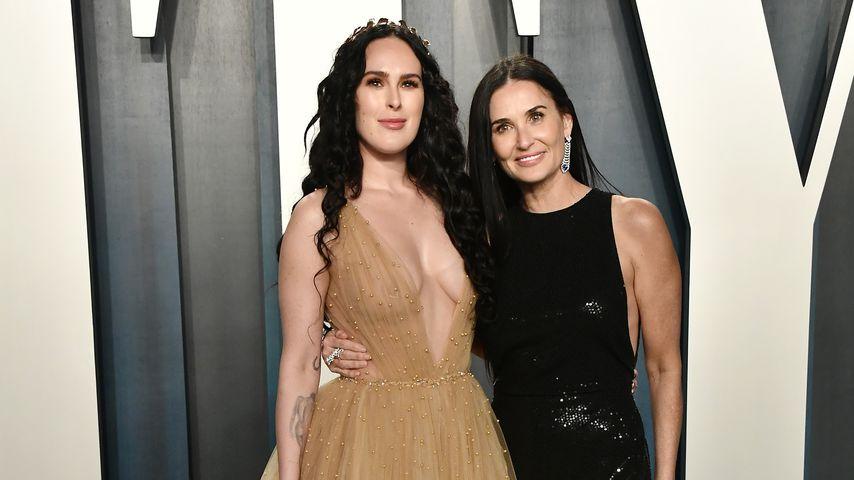 Rumer Willis und Demi Moore bei einer Oscar-Party 2020