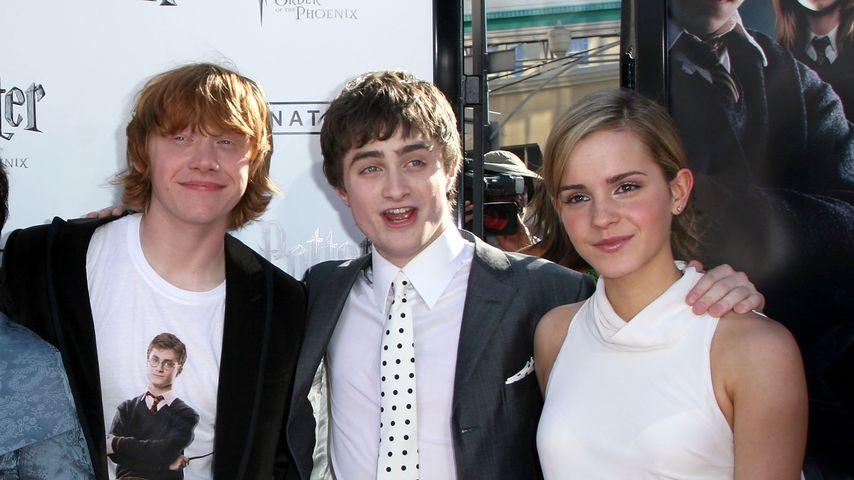 Rupert Grint, Daniel Radcliffe und Emma Watson 2007 in Kalifornien