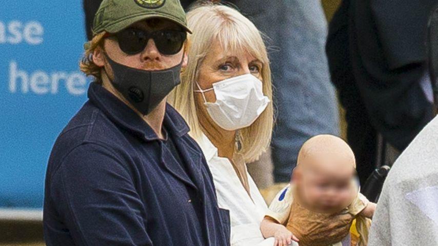 Rupert Grint und seine Tochter bei einem Familienausflug in London