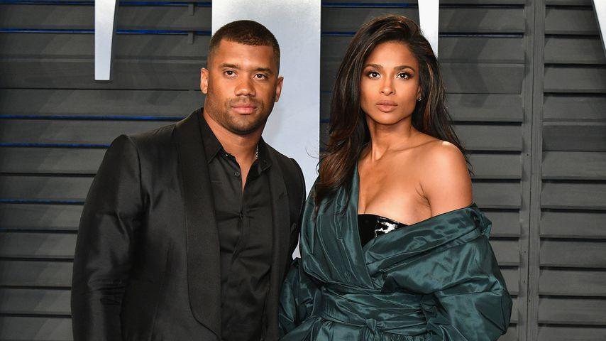 Russell Wilson und Ciara bei der Vanity Fair Oscar Party 2018