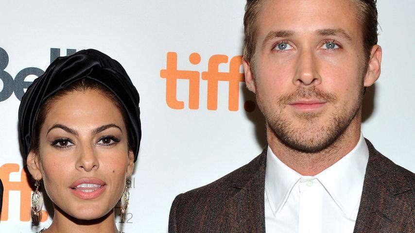 Das Schauspieler-Paar Ryan Gosling (r.) und Eva Mendes