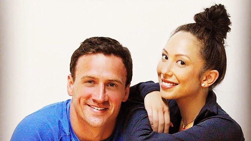 US-Schwimmer Ryan Lochte und Profitänzerin Cheryl Burke