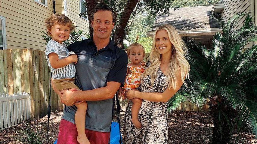 Ryan Lochte, seine Frau Kayla Rae Reid und ihre gemeinsamen Kinder Liv und Caiden im Juli 2020