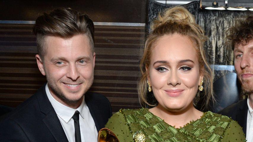 Ryan Tedder und Adele bei den Grammys 2017