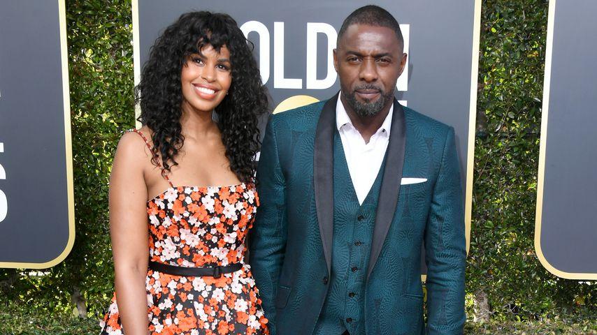 Sabrina Dhowre und Idris Elba bei den Golden Globes