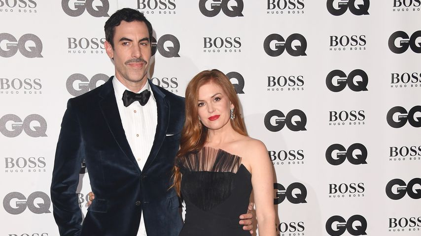 Sacha Baron Cohen und Isla Fisher bei den GQ Awards 2018 in London