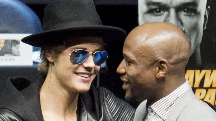 Justin Bieber und Floyd Mayweather