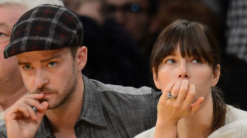 Sänger Justin Timberlake und Schauspielerin Jessica Biel