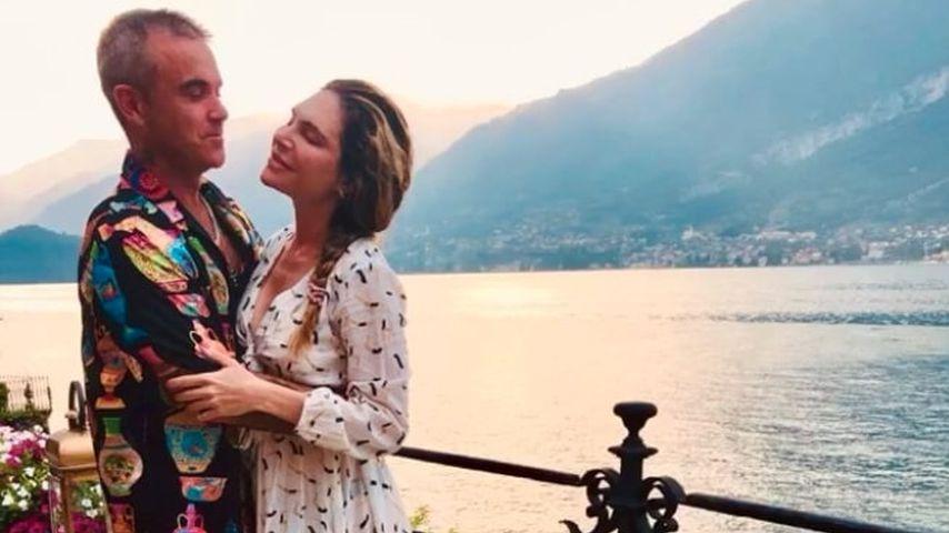 Sänger Robbie Williams mit Ehefrau Ayda Field