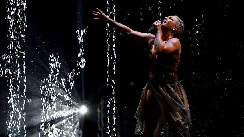 Sängerin Pink auf der Bühne der BRIT Awards 2019