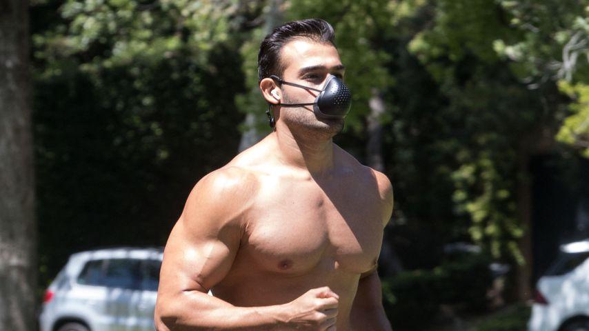 Ohne Shirt: So sexy geht Britneys Freund Sam Asghari joggen