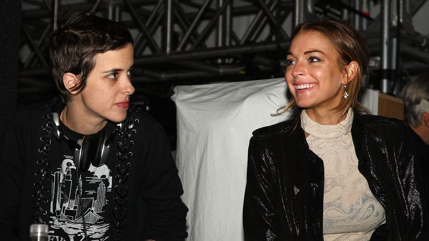 Samantha Ronson und Lindsay Lohan in New York City, Februar 2009