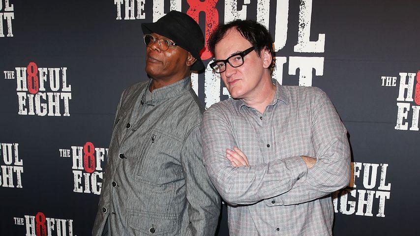 """Samuel L. Jackson und Quentin Tarantino bei der Premiere von """"Hateful Eight"""""""
