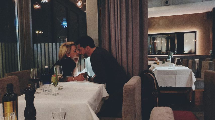 Sanja Alena und Aurelio Savina in einem Berliner Restaurant