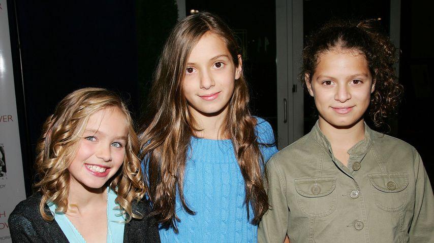 Saoirse Kennedy Hill mit ihren Cousinen Mariah und Cara