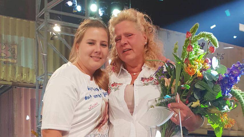 "Sarafina und Silvia Wollny beim ""Promi Big Brother""-Finale 2018"