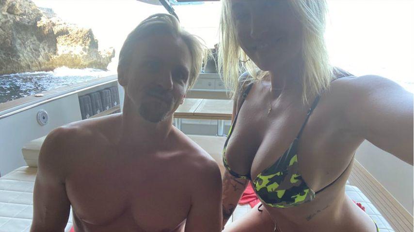 Sarah Connor (rechts) mit ihrem Freund Florian Fischer im Juli 2020