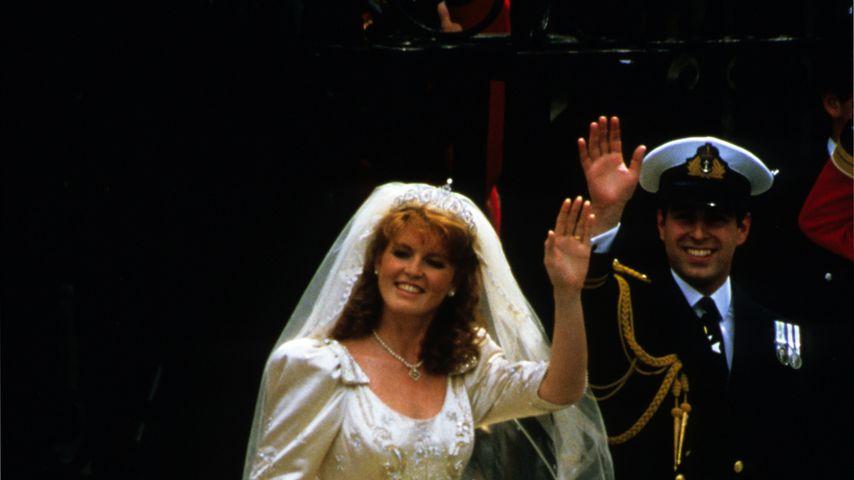 Sarah Ferguson und Prinz Andrew bei ihrer Hochzeit am 23. Juli 1986