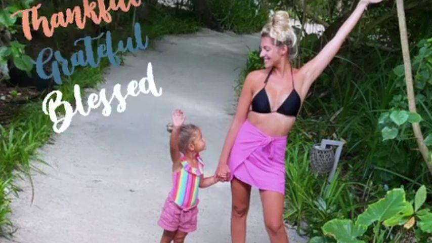 Sarah Harrison mit Töchterchen Mia Rose