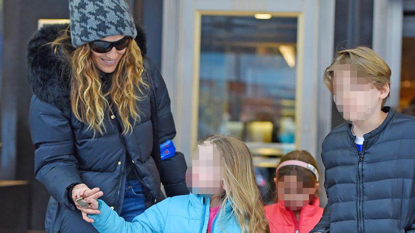 Sarah Jessica Parker und ihre Kinder James, Marion und Tabitha