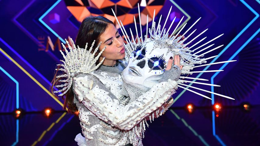 "Sarah Lombardi als Skelett bei ""The Masked Singer"" 2020"