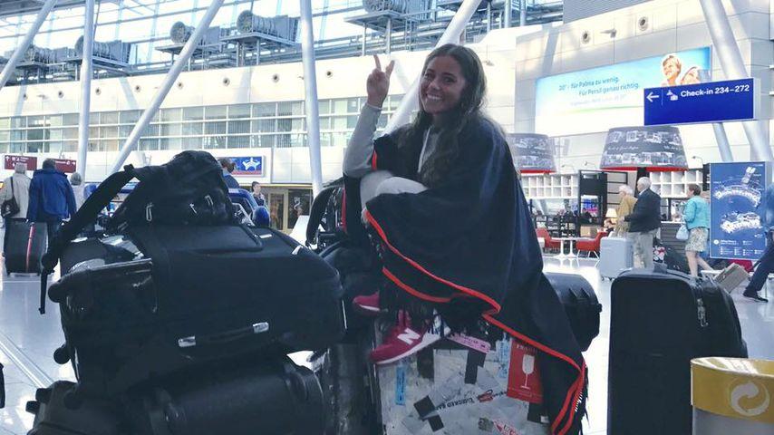 Gepäck-Queen: Sarah Lombardi ist startklar für die USA!