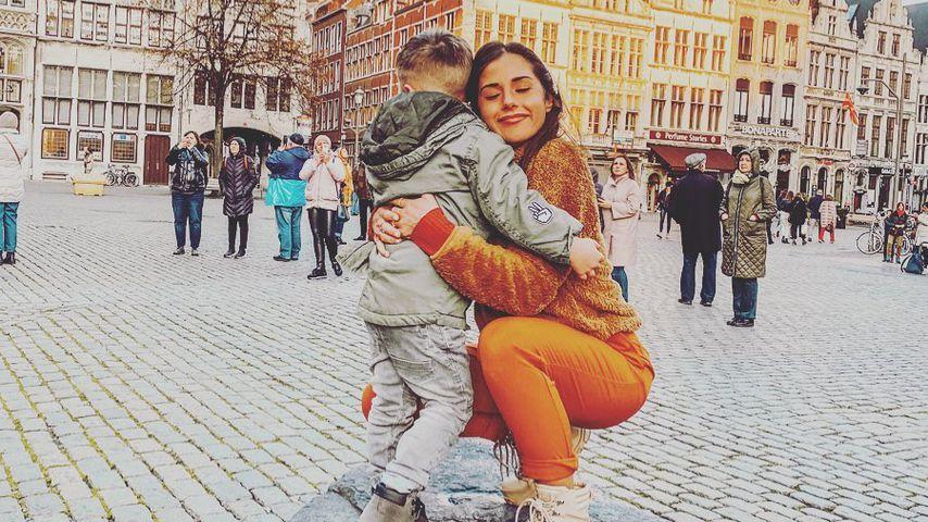Sarah Lombardi mit ihrem Sohn Alessio, November 2019