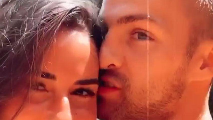 Sarah Lombardi und Julian Büscher im Juli 2020 in Portugal