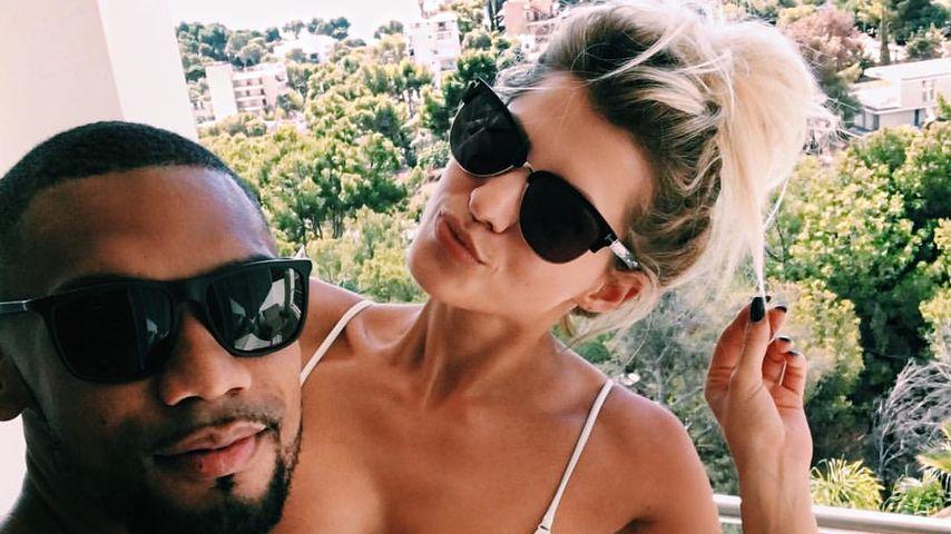 Sarah Nowak mit ihrem Freund Dominic Harrison auf Mallorca