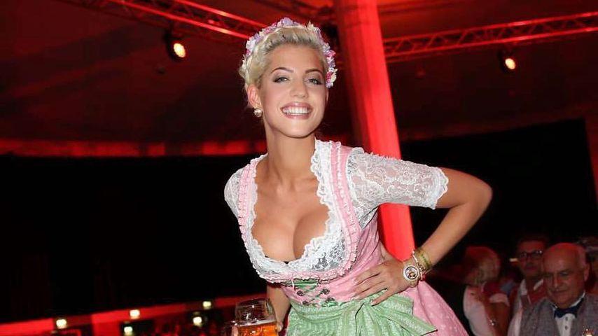 Sarah Nowak auf dem Oktoberfest in München
